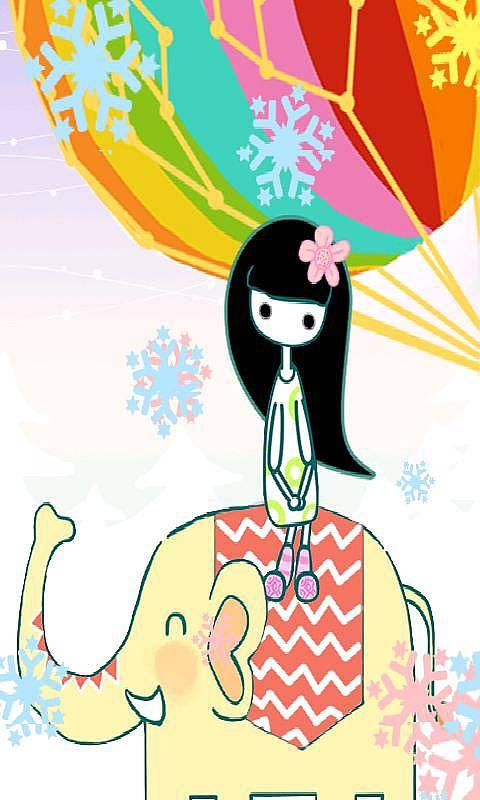 可爱大象,彩球环绕,五彩魔法,让您目不暇接!