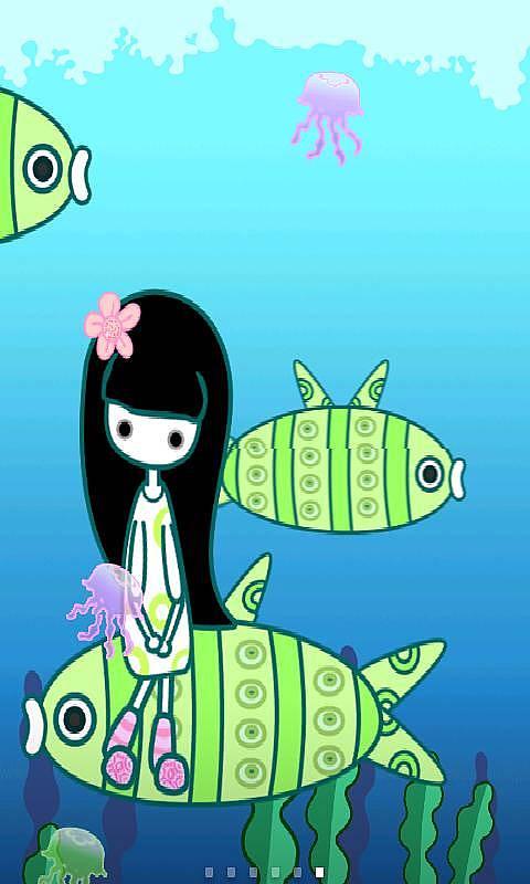 超萌可爱卡通小鱼