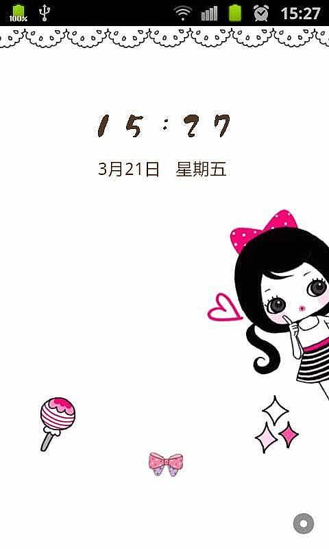 锁屏图片唯美韩国手绘女孩