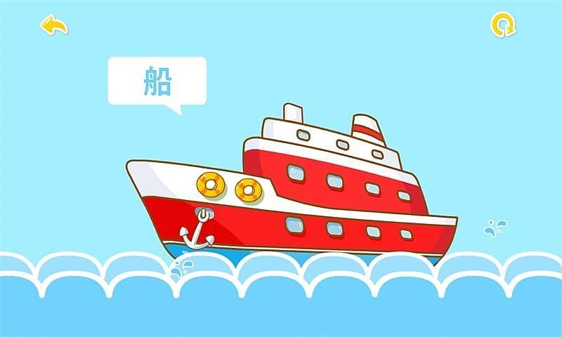 宝宝学交通工具将生活中常见的交通工具(汽车,轮船,火车)卡通化,可爱图片