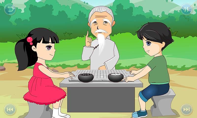 三个可爱动画人物活灵活现;·让孩子在看动画片过程中,学习围棋知识